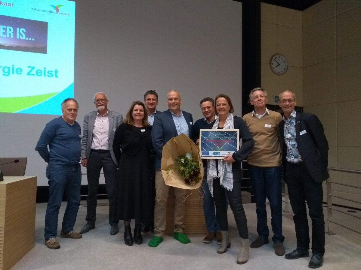 Stichting Energie Zeist wint prijs beste Energie initiatief