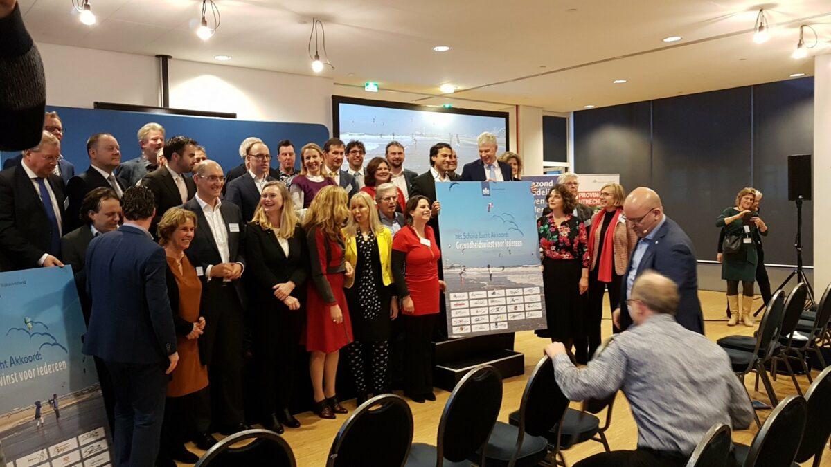 Utrecht ondertekent Schone Lucht Akkoord