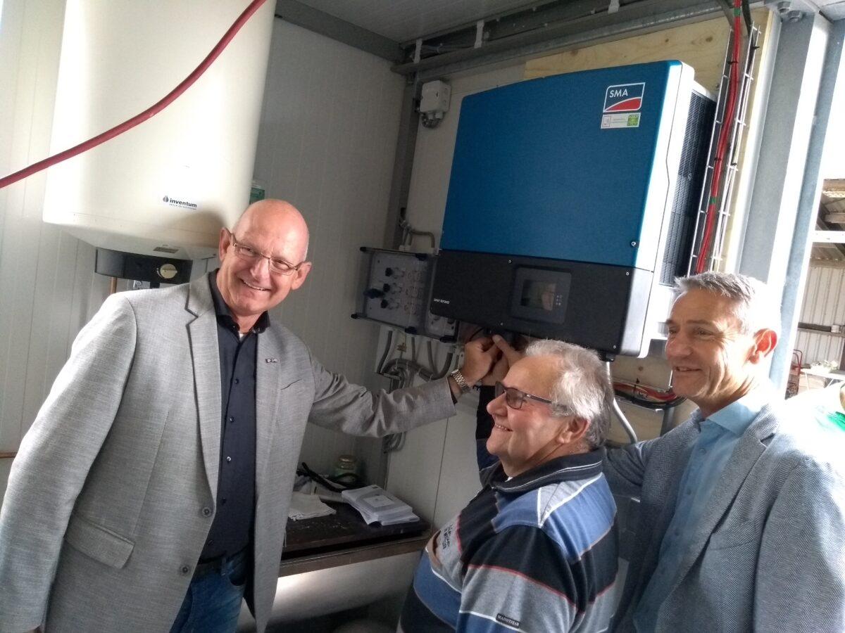 Eerste installatie van Zonne-collectief Lopikerwaard opent in Polsbroek