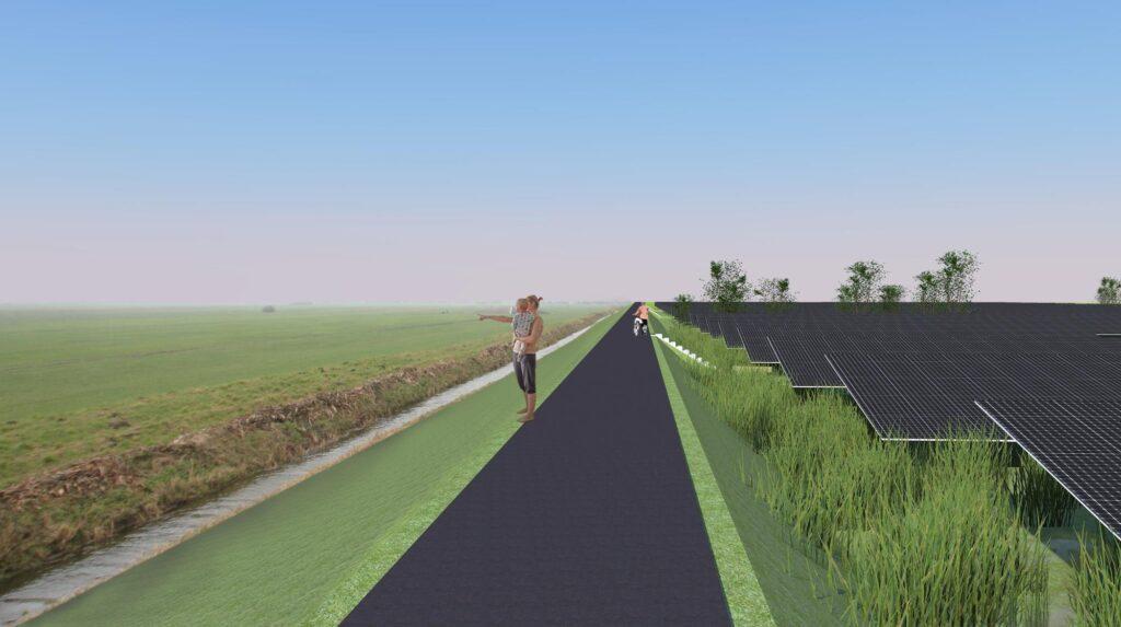 Energietuin Mastwijk weiland zonnepanelen
