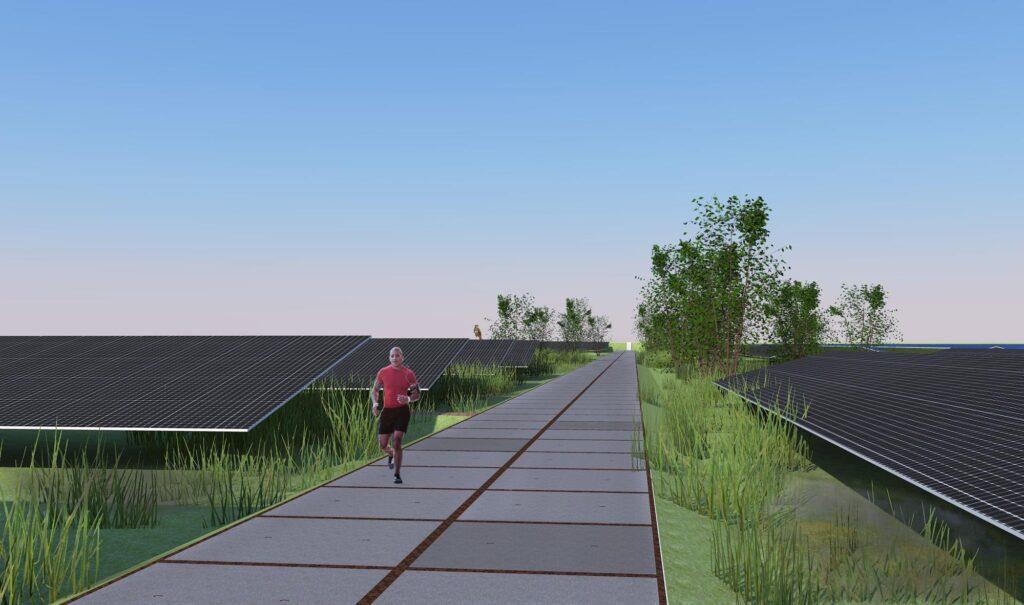 Energietuin Mastwijk zonnepanelen hardlopen