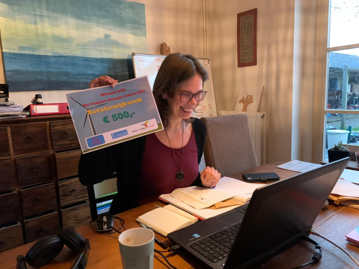 Bewonersinitiatief SoesterwijkWiek wint prijs voor beste energie-initiatief
